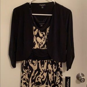 Dress with optional shaw, new